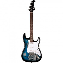 Guitarra Eagle Egp-10 Sk Stratocaster Caveiras - Refinado