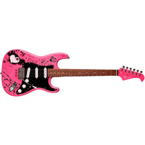 Guitarra Eagle Stratocaster Egp 10 Cr Personalizada Rosa