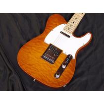 Fender Custom Shop Custom Dlx Telecaster Quilt - Honey Burst