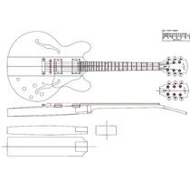 Planta Gibson Es 335 Para Impressão(luthier)