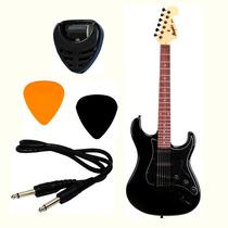 Guitarra Strato Memphis Tagima Mg-32 Total Black + Brindes