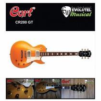Guitarra Les Paul Cort Classic Rock Series - Cr200 Gold Top