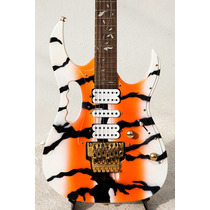 Guitarra T Johnson Mod. Steve Vai Custom Paint Orange Tiger