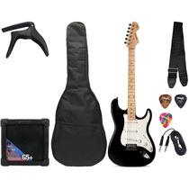 Kit Guitarra Strato 601 + Cubo + Capa + Correia + Palheta +
