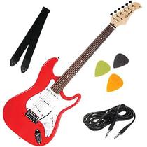 Guitarra Elétrica Strato Com Alavanca Palhetas Correia Cabo
