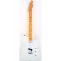 Guitarra Custom Telecaster Ss Branca Classic Maple 004 Tele