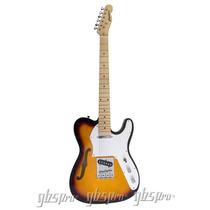 Guitarra Gbspro Telecaster Semi-acustica-sunb.- Frete Grátis