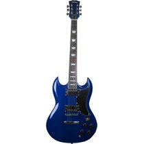 Ritmus : Thomaz Teg-340 : Guitarra Mod Sg C/ Humbucker Azul