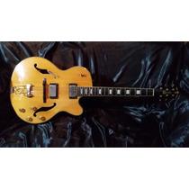 Guitarra Crafter Feg 700n Semi Acústica Tiger Maple, Mogno