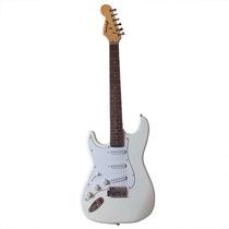 Guitarra Gbspro Stratocaster Canhoto - Branca+ Capa+frete