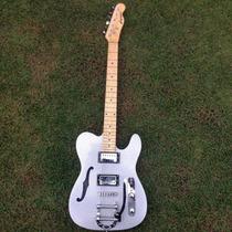 Guitarra Gbspro Telecaster Semi-acustica - Cinza Sparkle...