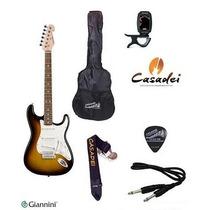 Kit Guitarra Strato Giannini G100 + Afinador + Acessórios