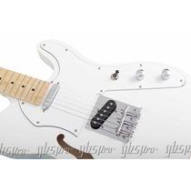 Guitarra Gbspro Telecaster Semi-acusts-branco Frete Gratis