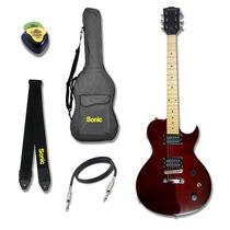 Guitarra Les Paul Hurricane Profissional Kit Completo