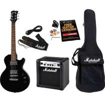 Kit Guitarra Amplificador Bag Afinador Mgap-b Marshall Novo