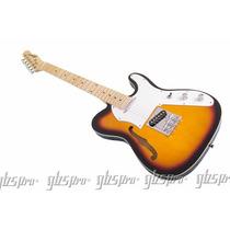 Guitarra Gbspro Telecaster Semi-ac Sunburst+semi Case+frete