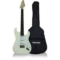 Guitarra Stratocaster Suzuki C/capa,correia E Cabo