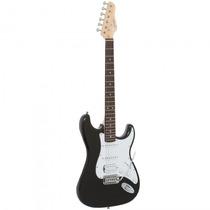 Guitarra Giannini G-101 Bk/wh Stratocaster Preta - Refinado