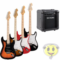 Kit Guitarra Michael Gm217 + Cubo Amp Mg10 - Loja Kadu Som