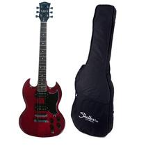 Guitarra Detroit Shelter Det305gb Wr Vermelha Captação Dupla