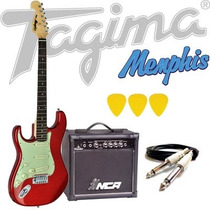 Kit Guitarra Tagima Memphis Mg32 + Acessórios - Vermelha Lh