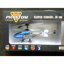 Helicoptero De Controle Remoto Phantom H-18 Azul Candide
