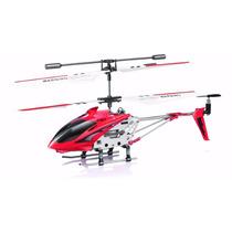 Mini Helicóptero Syma S107g Metal Series Vermelho 3 Canais