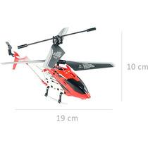 Helicóptero 3,5 Canais Vermelho Com Controle Remoto Brink Nf