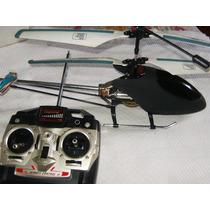 Helicóptero Pelicano Preto Grande Usado Funcionando Na Cx.