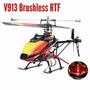 Helicóptero Wltoys V913 Mod. Novo C/ Motor Brushless Rtf