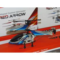 Mini Helicóptero Controle 3 Ch Com Gyro E Controle 2,4ghz