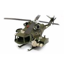 Helicóptero De Latão Decorativo De Guerra