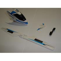 V911 Wltoys - Kit Canopy + Hélices + Estabilizador / Azul