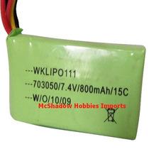 Bateria Lipo 7.4 Volts 800 Mah 15 C - Walkera