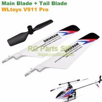 Blades + Tail Blade Helicóptero V911 Pro V2 Hélice Rotor Pás