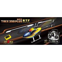 Helicóptero T-rex 250 Plus Dfc 3gx Radio 6canais Completo Li
