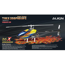 Helicóptero T-rex 250 Pro Dfc 3gx Super Combo 6ch Kx019011