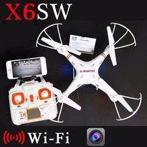 Drone Câmera Brinquedos X6sw Wifi Fpv Rc Helicóptero