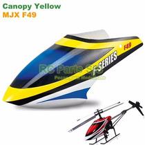 Canopy Yellow (carenagem Amarela) Helicóptero Mjx-f49, F649