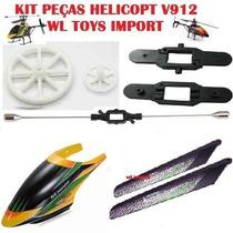 Kit Peças Para Helicóptero Wltoys V912