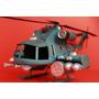 Miniatura Lata Artesanal Helicóptero Exercito Azul