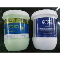 Gel Redutor D Água Natural + Creme Massagem Centella Asiátic