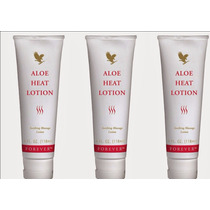 Kit (03) Aloe Heat Lotion - Creme Para Massagem Dor Forever