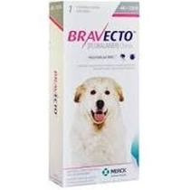 Bravecto 40 A 56 Kg - Anti Pulgas E Carrapatos Para Cães
