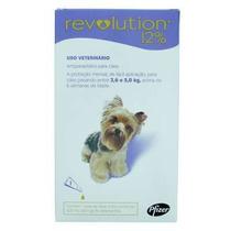 Anti Pulgas E Carrapatos Revolution 12% Cães De 2,5 À 5 Kg.