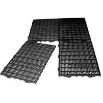 50 Pisos Plastico Preto Estrado Plat 50x25xcm Multi Canil