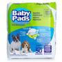 Tapete Higienico Para Cães Baby Pads Com 50 Unidades 60x65