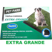 Sanitario Canino Pet Park Extra Grande Grama Sintetica