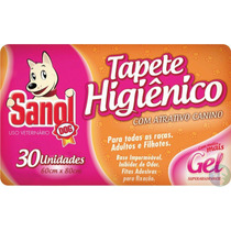 Tapete Higienico Sanol C/atrativo Canino C/30 Un.