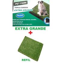 Sanitario Canino Pet Park Extra Grande Grama + Grama Extra